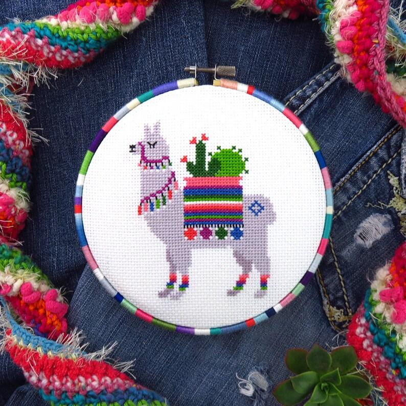 Llama Cross Stitch Pattern Alpaca Cross Stitch Llama image 0