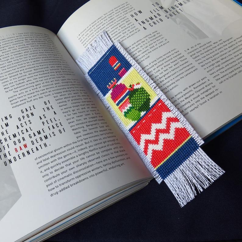 Cross Stitch Bookmark Pattern Plant Cross Stitch Cactus image 0