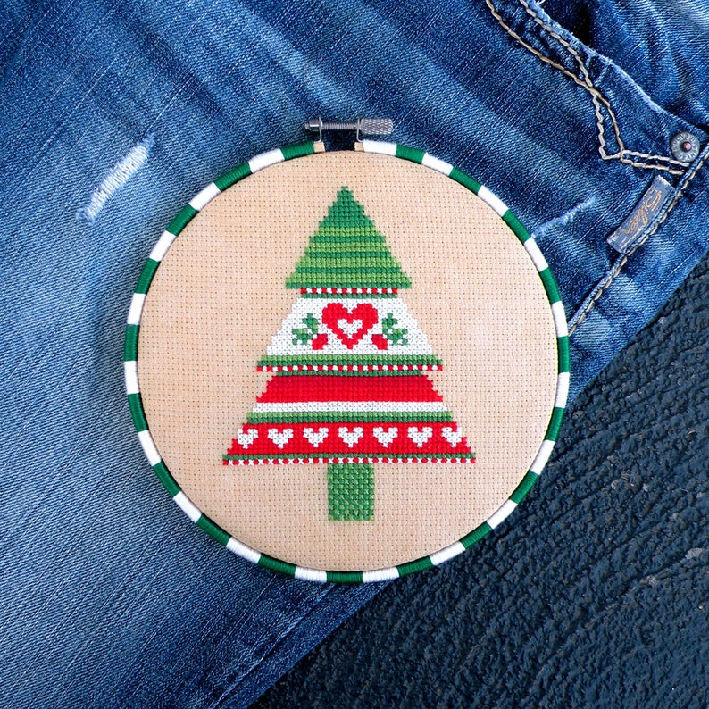 Christmas Cross Stitch Pattern Cross Stitch Tree Christmas image 0