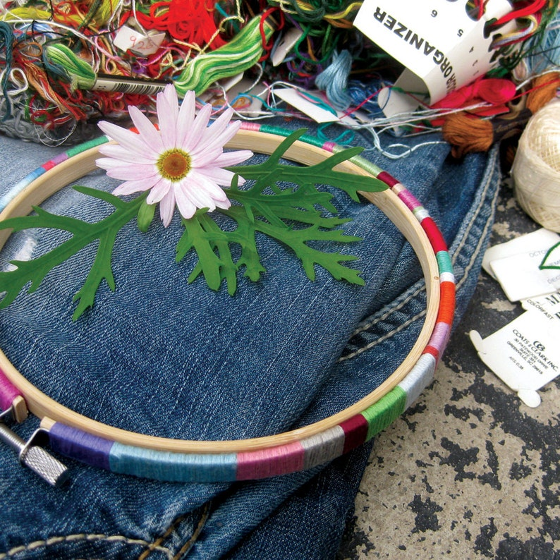 Embroidery Hoop Art Cross Stitch Frame Tutorial Wooden image 0