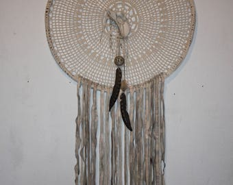 Macrame and Tie Dye Leather Dream Catcher