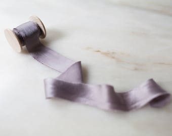"Heather, soft mauve silk ribbon, 1"" wide, handmade, hand dyed,  bridal bouquet, invitations, wedding favours, photography, styling"