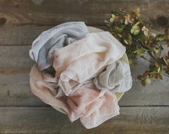 Cotton Dinner Napkins, set of 6 | handmade, hand dyed, table linens, naturally-dyed, wedding, photography, styling,