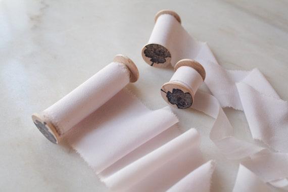 Pâle Rose, rose, ruban de soie, 4