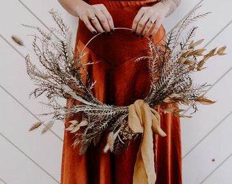 """Caramel, hand-dyed 2"""" wide silk ribbon 