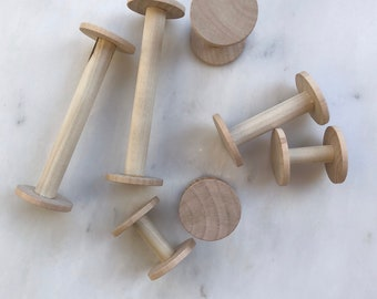 Wooden Spools | handmade, unfinished wood, eco friendly, for flat lays, wedding details, ribbon, photography & styling kits