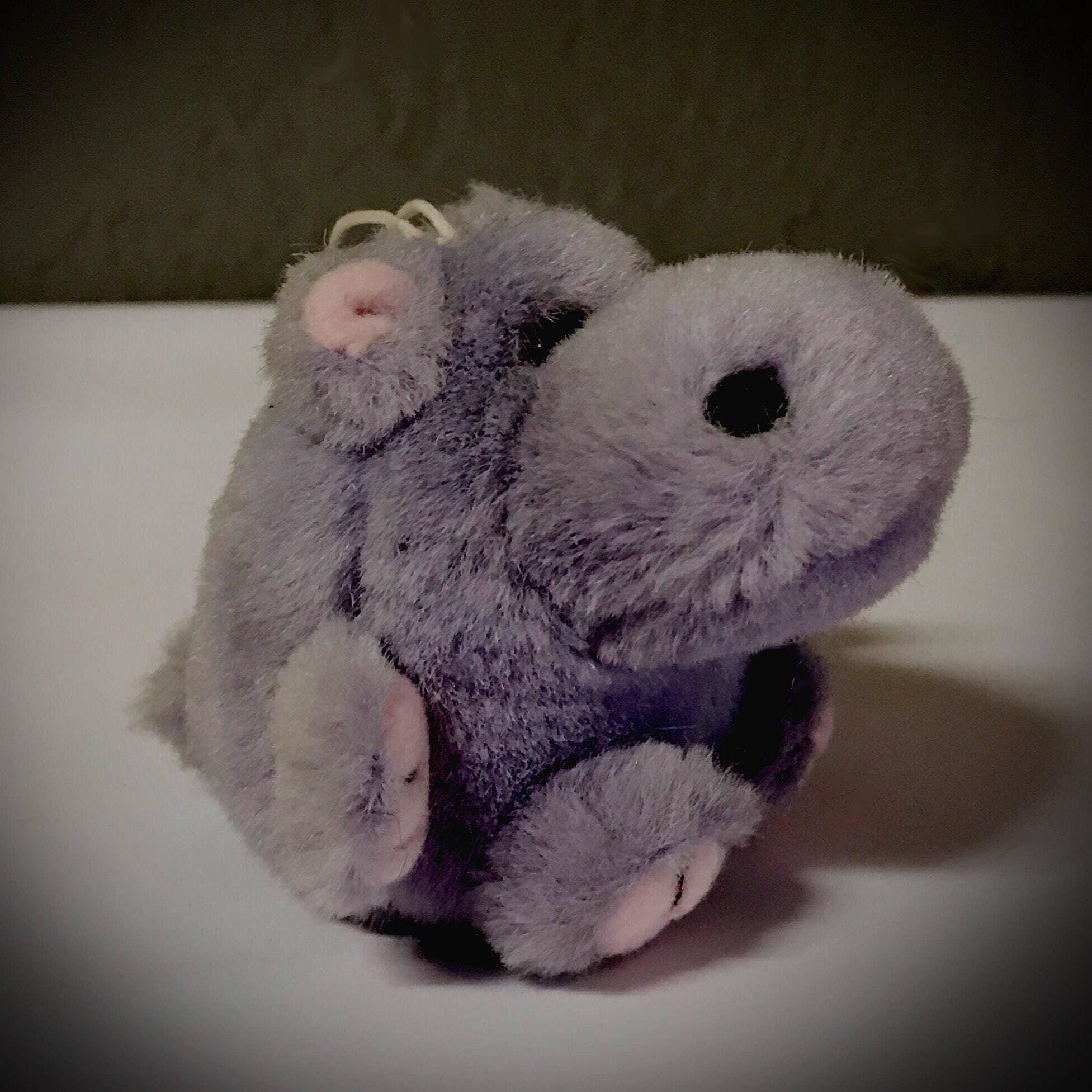 Vintage Mjc Cushy Critter Collection Purple Hippo Stuffed Etsy