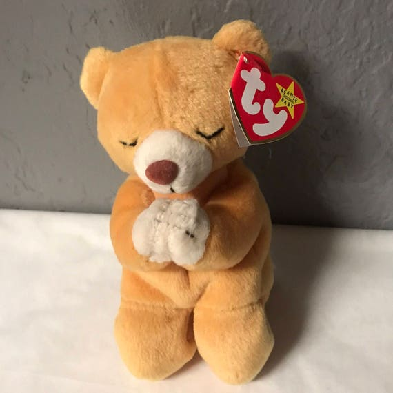 a4c7b441148 Hope the praying bear beanie baby 1998 1999 misprint beanie