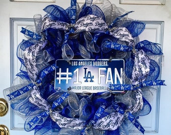 Los Angeles Dodgers Wreath