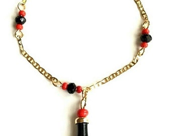 7e7edf2d1 14K Gold Plated Azabache Bracelet for Baby 5.5