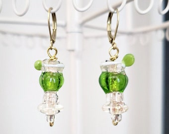 Please over Brass Tulip Bead Caps NEW IN STUDIO: Hand-Mixed Patina Tequila with Lime Small x2 pcs