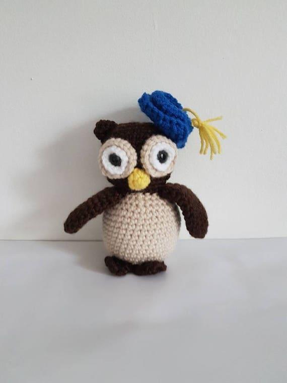 Buho juguete ganchillo graduación búho búho suave juguete | Etsy