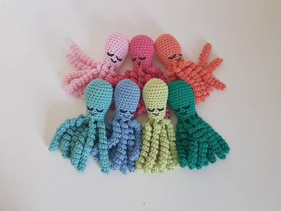 Premmie Octopus Speelgoed Haak De Octopus Katoen Octopus Etsy