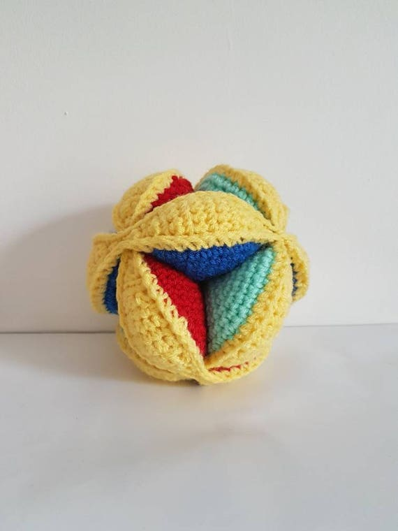 Amish Puzzle Ball Spielzeug Häkeln Puzzle Spielzeug Für Baby Etsy
