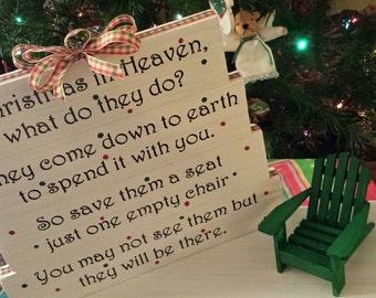 Christmas Chair Sign