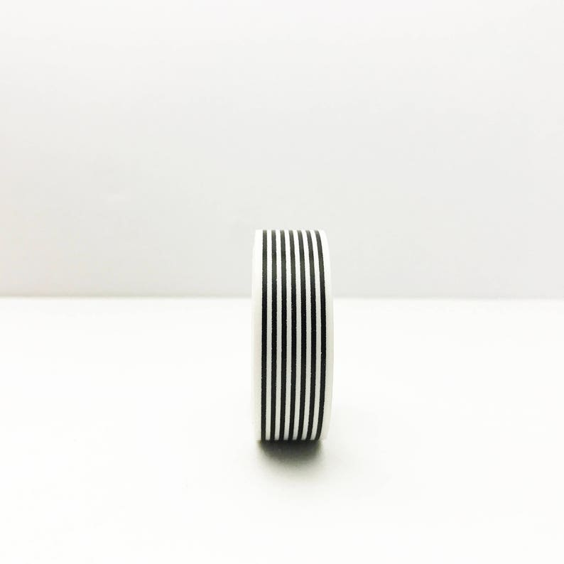 Modern Thin Striped Black and White Washi Tape Scrapbooking Supplies Calendar Decor  R-Al079-15 Striped Stickers Japanese Paper Tape