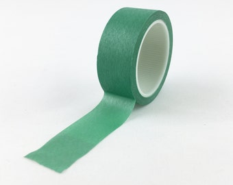 Solid Jade Green Washi Tape // 15mm // Paper Tape // BBB Crafting Supplies // R-SL063