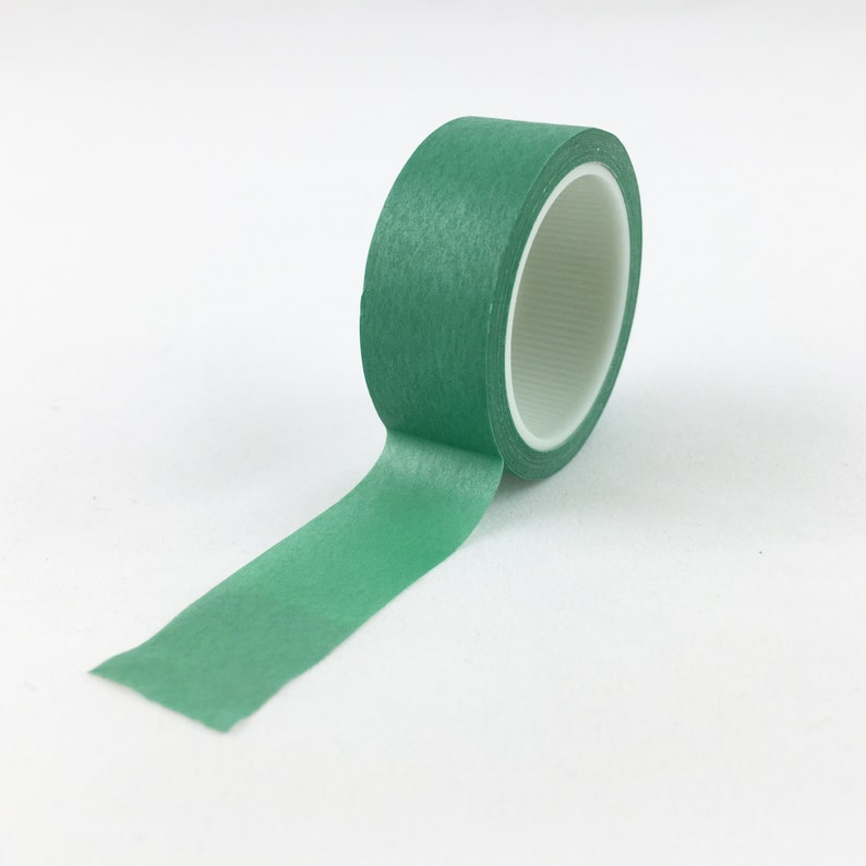 Solid Jade Green Washi Tape // 15mm // Paper Tape // BBB image 0