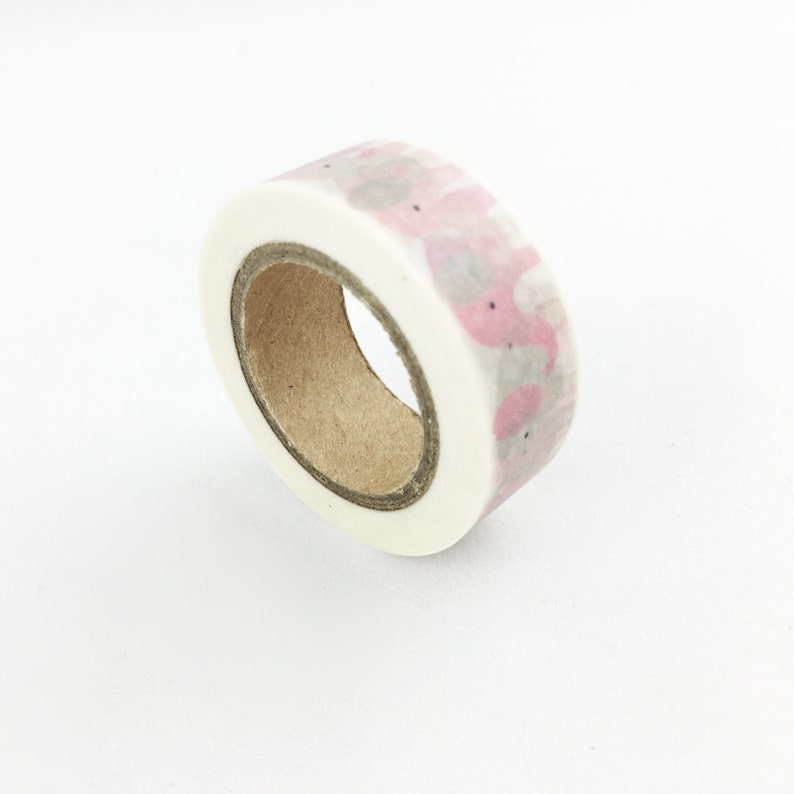 Cute Pink /& Grey Elephant Washi Tape  15mm  Paper Tape  BBBsupplies  R-ZH1478-15