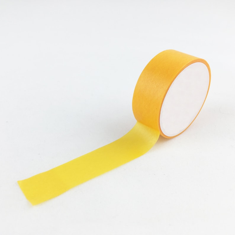 Solid Yellow Ochre Craft Washi Tape // 15mm // Paper Tape // image 0