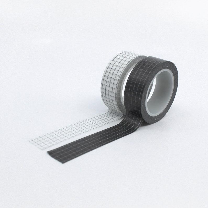 Calendaring Tape Supplies Black White OR Grey Grid Pattern Washi Tape Journaling Washi Tape  BBB SUPPLIES  R-GH345  R-GH344  GH1-007