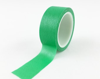 Solid Muted Apple Green Washi Tape // 15mm // Paper Tape // BBB Crafting Supplies // R-SL059