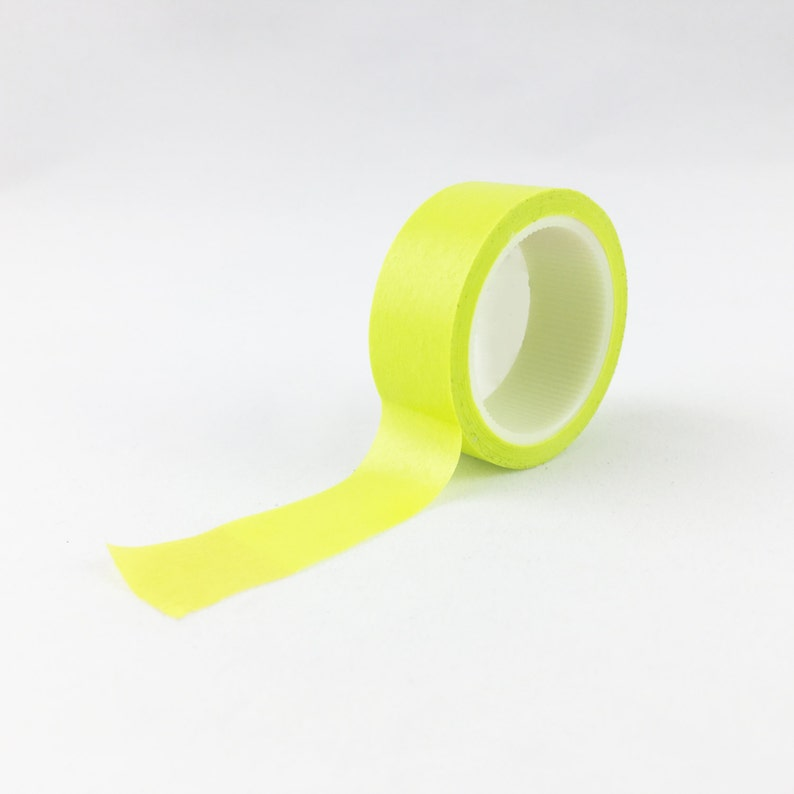 Solid Neon Green Craft Washi Tape // 15mm // Paper Tape // BBB image 0