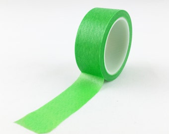 Solid Neon Green Washi Tape // 15mm // Paper Tape // BBB Crafting Supplies // R-SL065