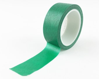 Solid Hunter Green Washi Tape // 15mm // Paper Tape // BBB Crafting Supplies // R-SL060