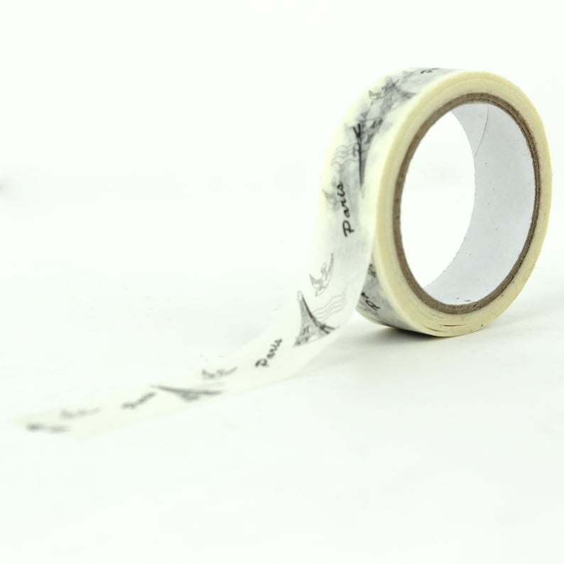 Words Scrapbooking Tape Dove Travel Bug Craft Tape Gift Wrapping Paper Tape  R-ZH0147-15 Paris Eiffel Tower Elegant Washi Tape
