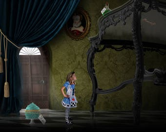 Alice in Wonderland Digital Backdrop Background