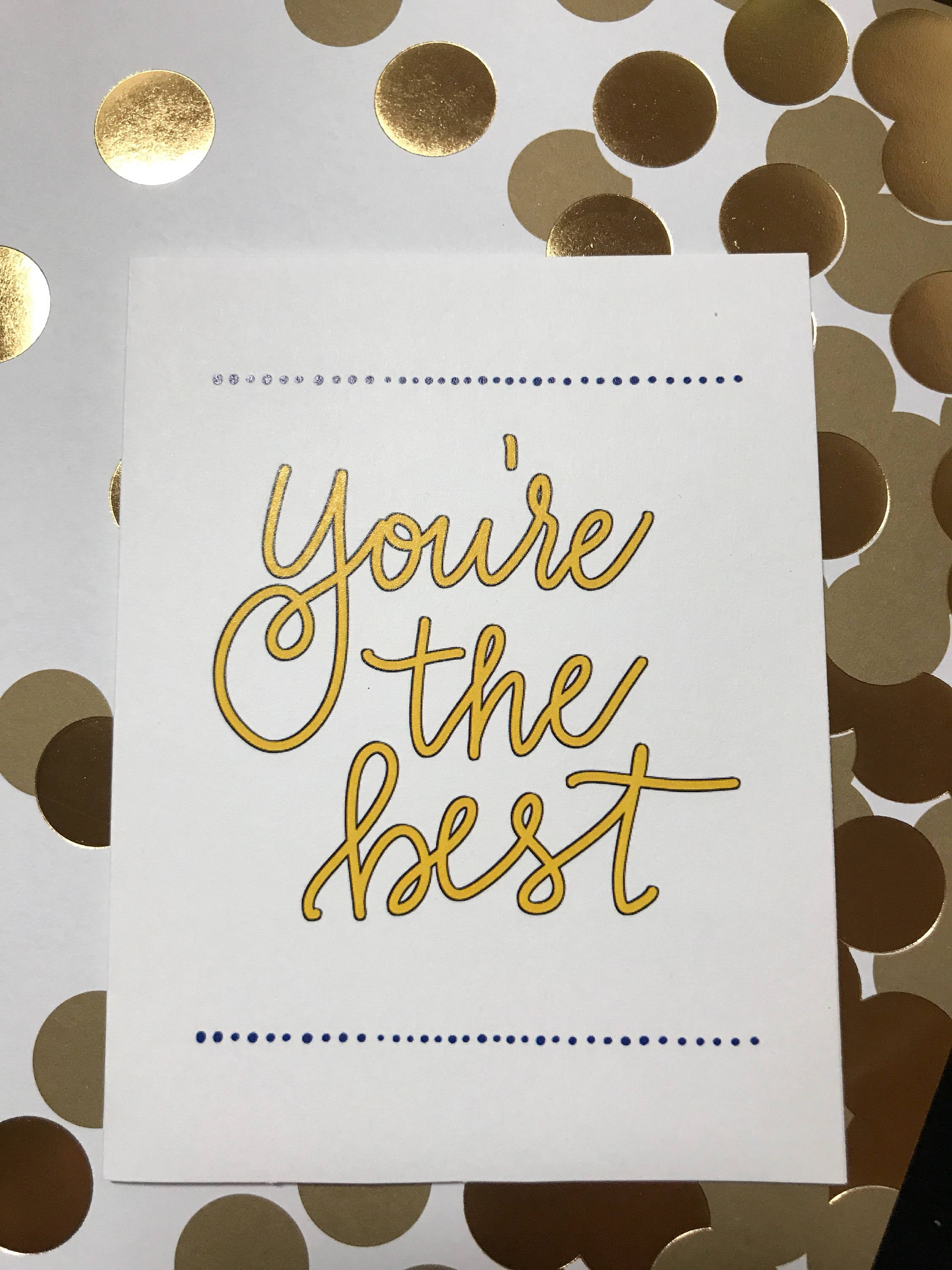 You're the best greeting card