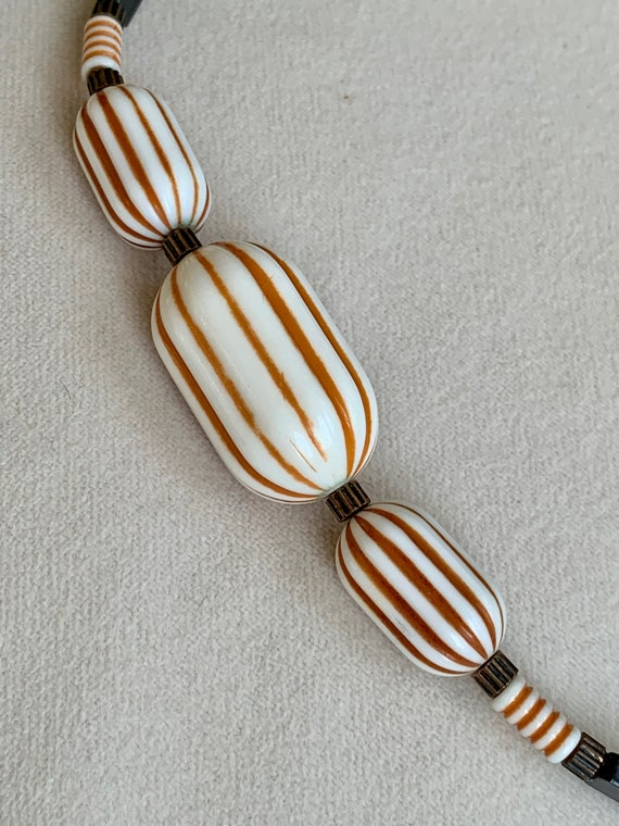 Chunky Lucite Choker Vintage Large Melon Lucite Be