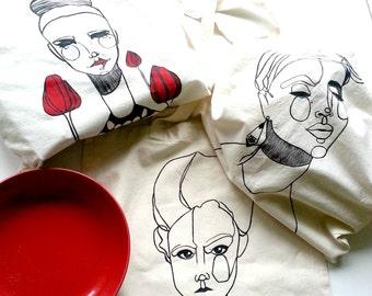 Shopping bag/Tote bag hand painted