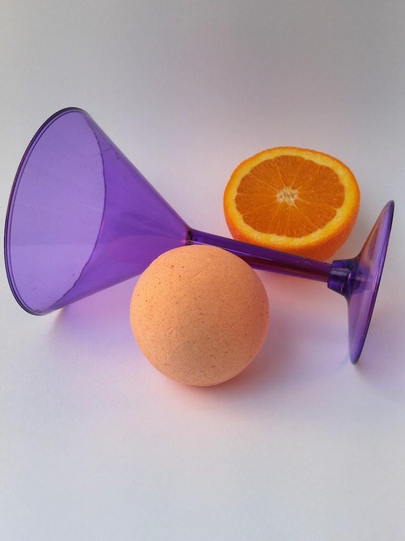 Sonic Screwdriver Orange Cranberry Bath Bomb with Vodka image 0