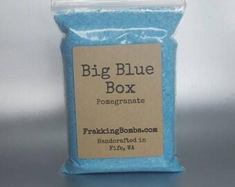 Big Blue Box (Pomegranate Bath Fizz)