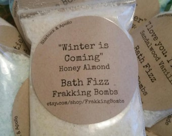 Winter is Coming (Honey Almond Bath Fizz with Goats Milk Powder and Oatmeal)