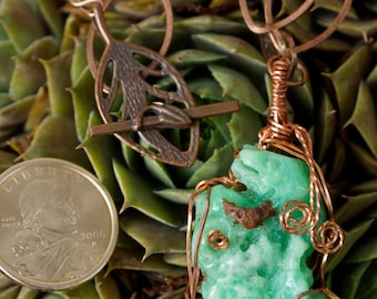 Necklace~Natural Jadeite with Complimentry Copper