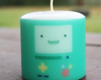 Adventure Time BMO Pillar Candle Medium Unscented