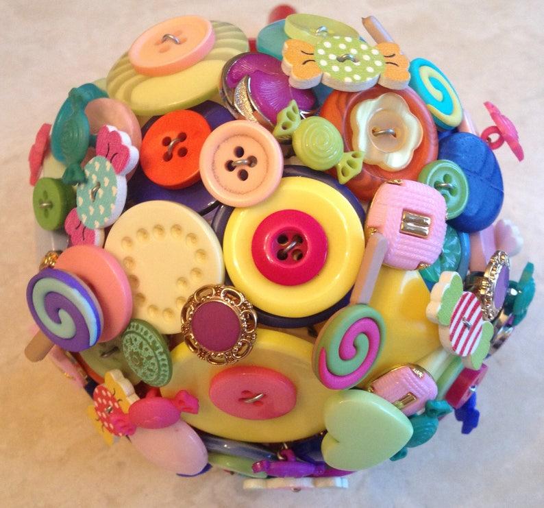 sweets button alternative keepsake BridalBridesmaid Bouquet Lollipop