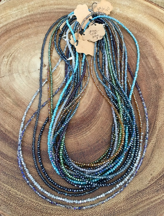 Color Block Wrap Necklaces