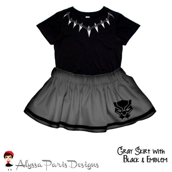 Black Panther Inspired Skirt and Top SET