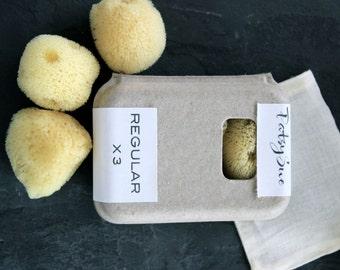 Sea Sponge Tampons | Set of 3 Regular Natural Tampons | Natural Menstrual Sponges | Reusable Tampons | Washable Tampons | FREE SHIPPING