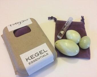 Set Of 3 Jade Yoni Egg | Kegel Eggs | Genuine Jade Eggs | Pelvic Floor Exerciser | Drilled Jade Eggs | Yoni Eggs Set | FREE SHIPPING
