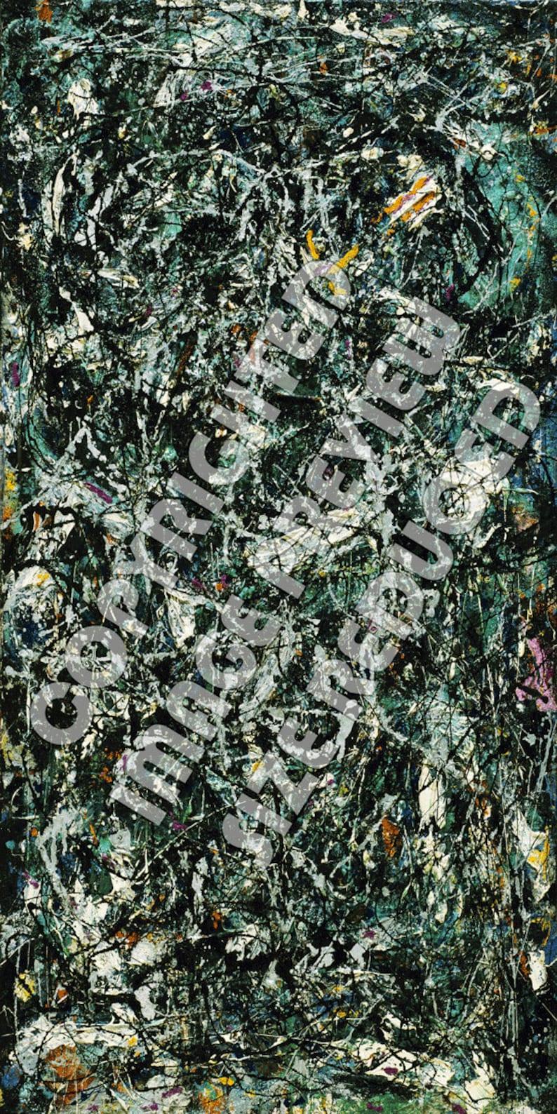 Antiquitäten Kunst Kunstdrucke Jackson Pollock Full Fathom