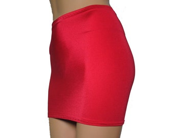 a525c37c5e78fd White Lycra Spandex Mini Skirt Bodycon Womens Ladies S31 | Etsy