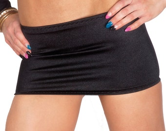 15618e68d Black Lycra Stretch Micro Mini Skirt W304