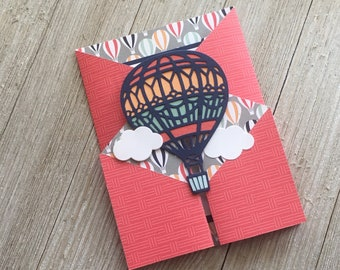Stampin up handmade cards etsy congratulations card hot air balloon cards handmade greeting cards stampin up greeting cards personalized greeting cards m4hsunfo