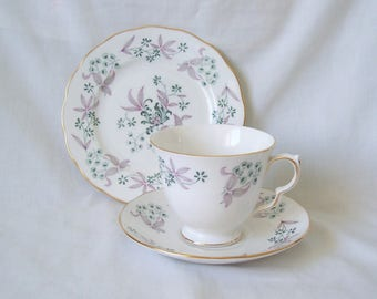 SALE Teacup Trio c.1960 Cup, Saucer, Plate by Colclough China