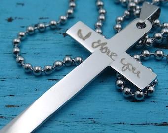Personalize Handwriring, Text, Handwritten Bible , Signature Drawing Replica Text, Key Chain, Necklace, Boyfriend, Girlfriend Gift